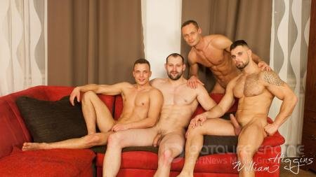 Hugo Antonin, Leo Lombar, Pavel Sora, Roman Baren - Wank Party #105, Part 2 [FullHD 1080p/WilliamHiggins/2019]